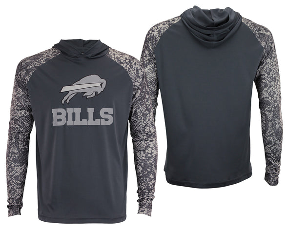 Zubaz Men's NFL Buffalo Bills Tonal Lightweight Hoodie