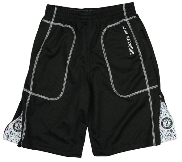 Zipway NBA Youth Brooklyn Nets Waffle Athletic Basketball Shorts, Black