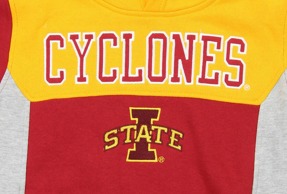 NCAA Youth Iowa State Cyclones Throwback Block Hoodie