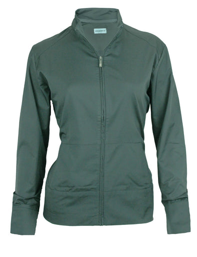 Ashworth Women's Performance Solid Stretch Zip Up Wind Jacket, Several Colors