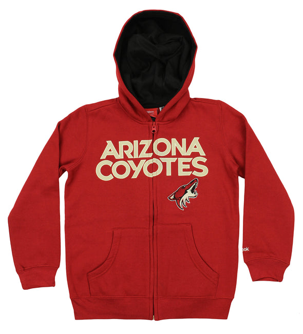 Reebok NHL Youth Arizona Coyotes Stated Full Zip Hoodie