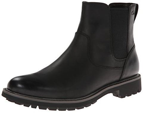 Clarks Men's Boots Montacute Top Leather Ankle Boots - Black
