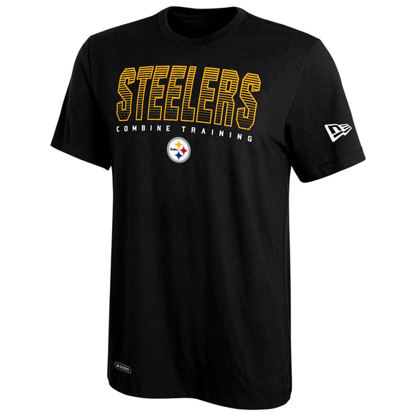 New Era NFL Men's Pittsburgh Steelers Combine Training Dri-Tek Tee, Black