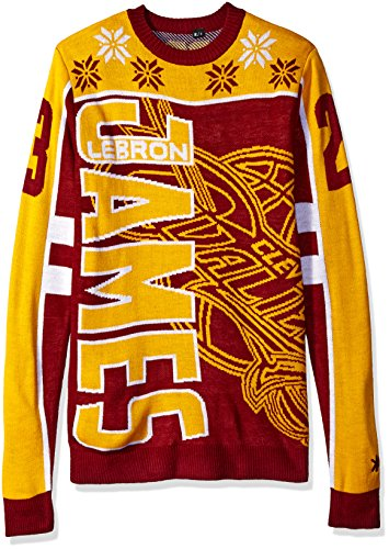 KLEW NBA Men's Cleveland Cavaliers Lebron James #23 Ugly Sweater