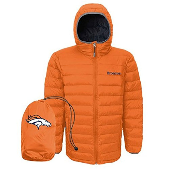 Outerstuff NFL Youth Denver Broncos Solid Packaway Puffer Jacket