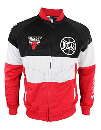 Zipway NBA Mens Chicago Bulls Stamped Full Zip Athletic Jacket