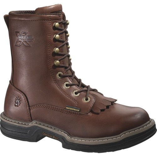 Wolverine Buccaneer Men's Waterproof Steel Toe EH Kiltie Lacer Work Boot