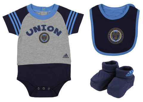 b936904892a Adidas MLS Infant Philadelphia Union Little Kicker Three Piece Set