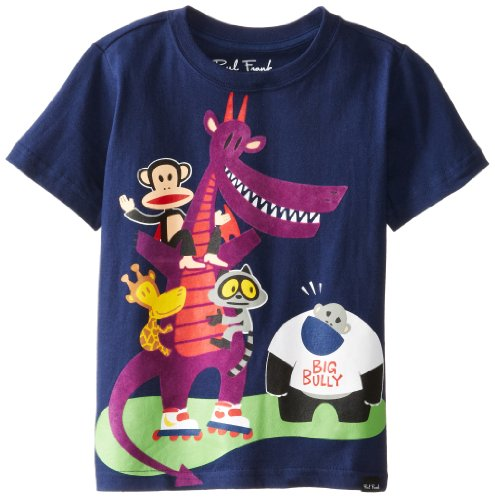 Paul Frank Little Boy's Kids Julius & Friends Big Bully Short Sleeve T-Shirt, Navy