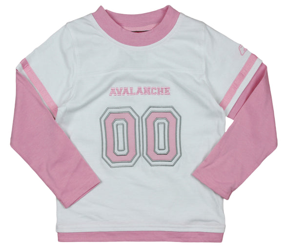 Reebok NHL Little Girl's Kids Colorado Avalanche 2-Piece Suede Jersey and Pants Set