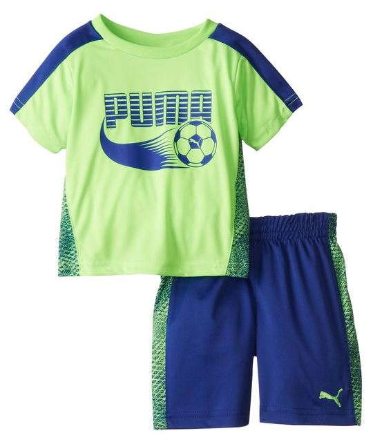 Puma Infants / Toddlers Soccer Set - Jersey Shirt & Shorts Combo Set
