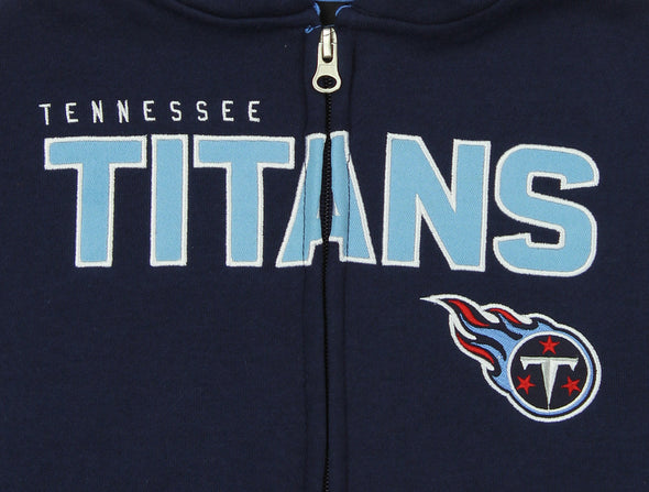 "Outerstuff NFL Kids Tennessee Titans ""Stated"" Full Zip Hoodie, Navy"