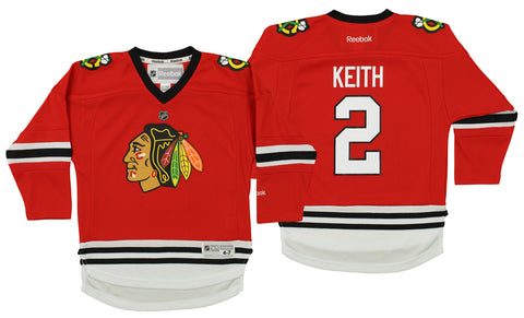 9189e155a94 Reebok NHL Kids Chicago Blackhawks Duncan Keith #2 Replica Player Jersey,  Red