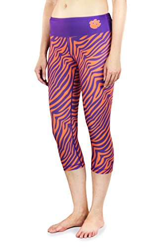 NCAA Women's Clemson Tigers Thematic Print Capris, Purple