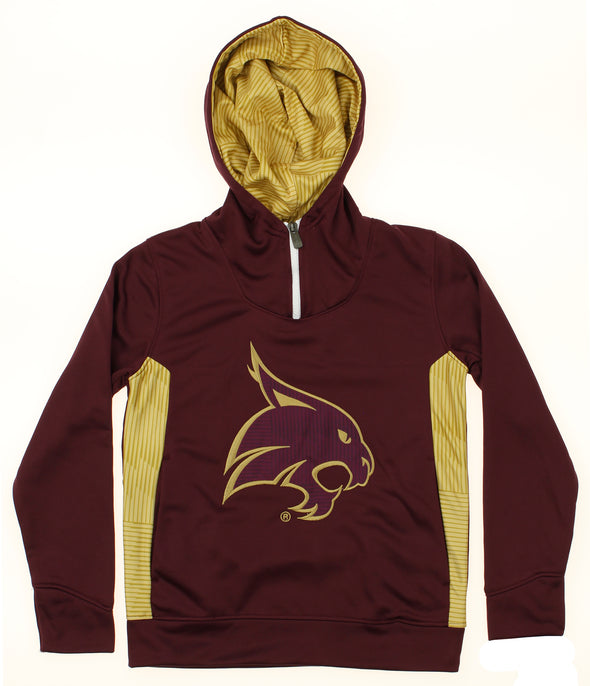 Outerstuff NCAA Youth Texas State Bobcats Performance 1/4 Zip Hooded