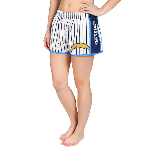 Forever Collectibles NFL Women's Los Angeles Chargers Pinstripe Shorts