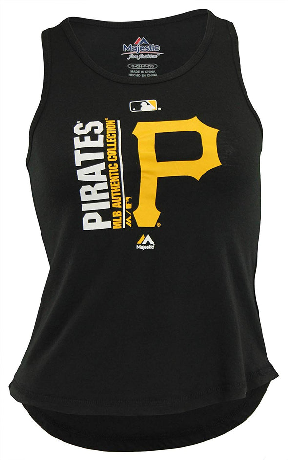 Outerstuff MLB Youth Girls Pittsburgh Pirates AC Team Icon On Field Tank
