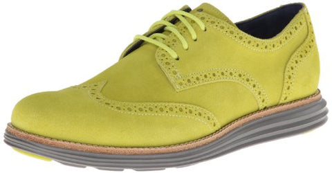 Cole Haan Men's Lunargrand Wingtip Oxford Volt Shoes, Suede / Ironstone