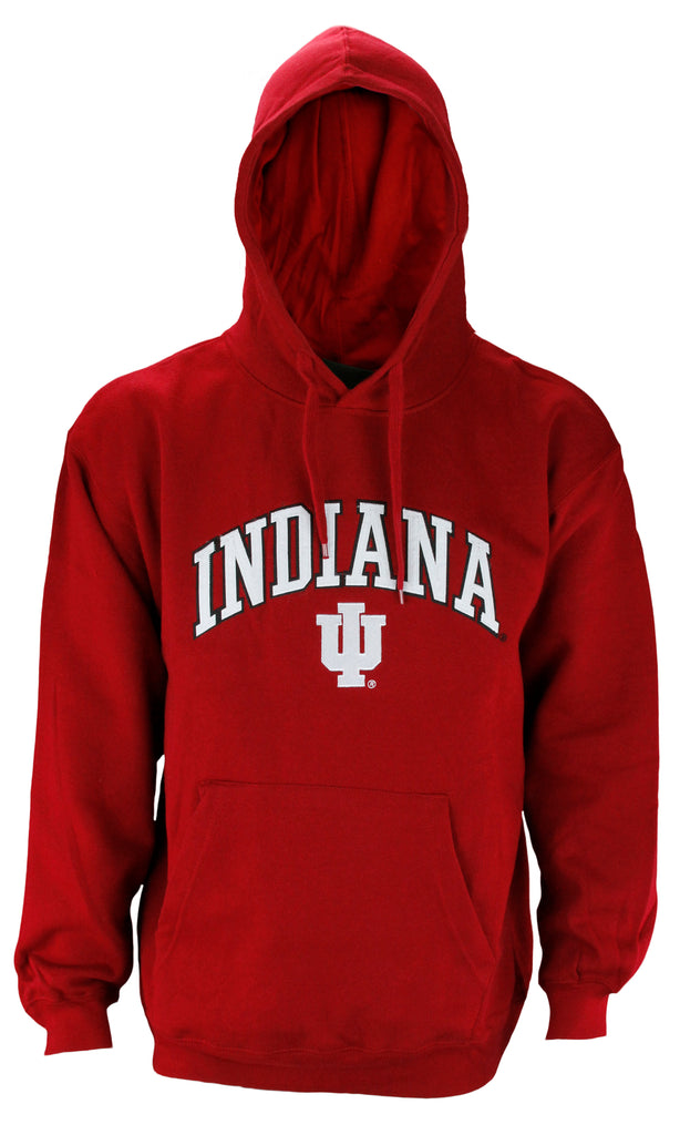 Genuine Stuff NCAA College Men's Indiana Hoosiers Team Pullover Sweatshirt Hoodie, Red