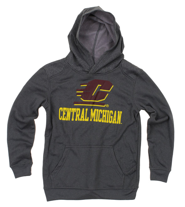 NCAA Youth Central Michigan Chippewas Performance Hoodie, Gray