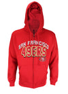 San Francisco 49ers NFL Football Men's In The Pocket Full Zip Fleece Hoodie, Red
