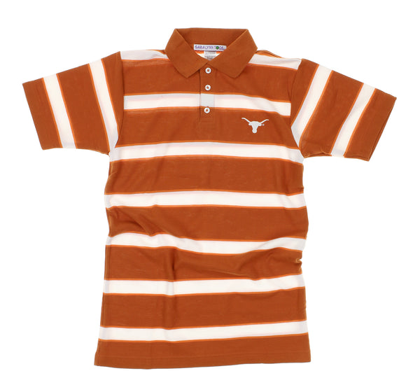 NCAA Youth Texas Longhorns End Zone Short Sleeve Polo Shirt