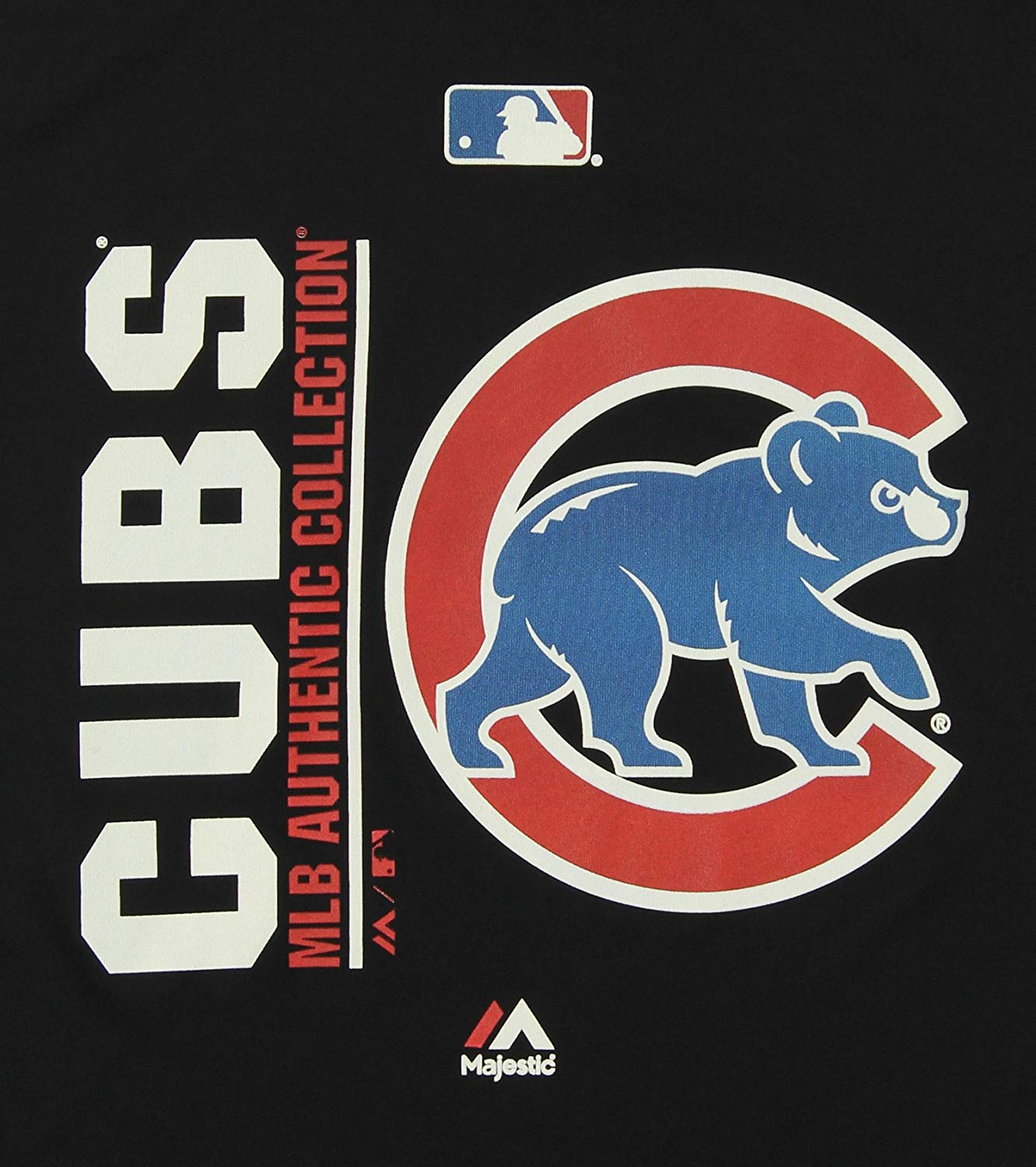 Majestic MLB Youth Chicago Cubs Short Sleeve AC Team Icon Tee