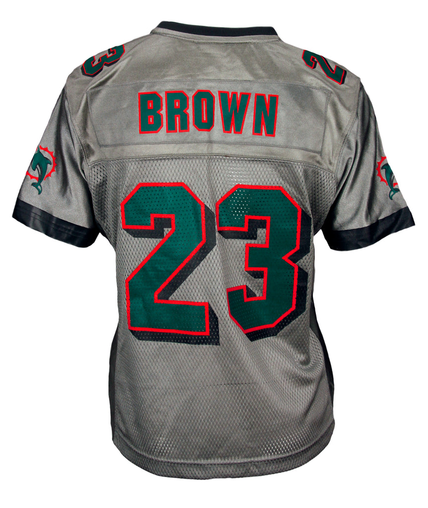 newest collection 5b4c2 00228 Reebok Womens NFL Football Miami Dolphins BROWN # 23 Replica ...