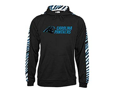 Zubaz Men's NFL Carolina Panthers Pullover Hoodie With Zebra Accents