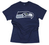 Seattle Seahawks NFL Football Men's Primary Logo T-Shirt Top Tee, Navy