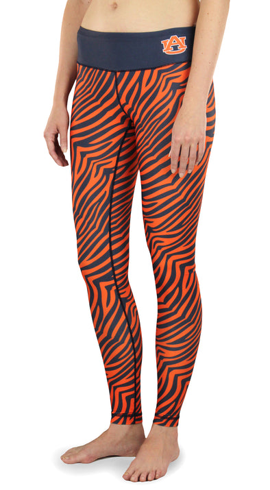 NCAA Women's Auburn Tigers Thematic Print Leggings, Orange