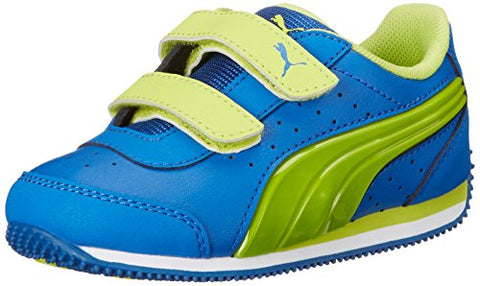 PUMA Toddlers Speed Light Up V Kids Sneaker, Puma Royal/Lime Punch
