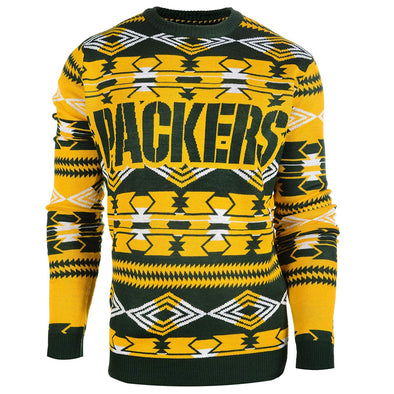 Forever Collectibles NFL Men's Green Bay Packers 2015 Aztec Ugly Sweater
