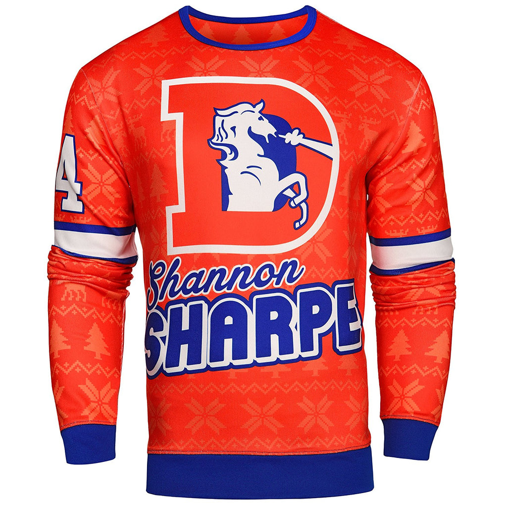 size 40 59b8f 0cb07 NFL Men's Denver Broncos Shannon Sharpe #84 Retired Player Ugly Sweater