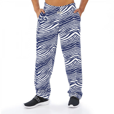 Zubaz NFL Men's Los Angeles Rams Classic Zebra Print Team Logo Pants