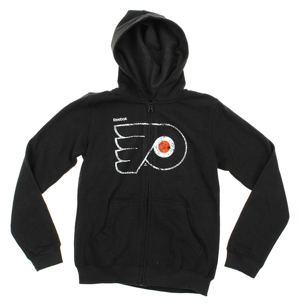 NHL Youth Philadelphia Flyers Distressed Graphics Zip Up Hoodie
