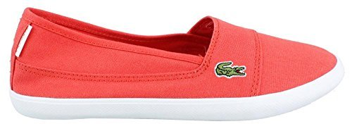 Lacoste Women's Marice Slip On Fabric Shoes, Red
