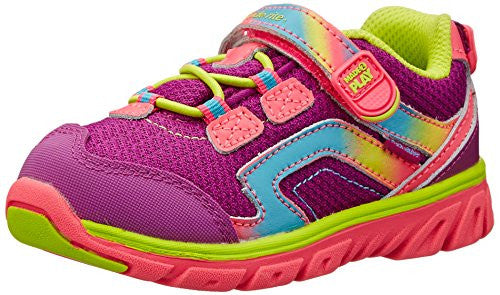 Stride Rite Toddler Made 2 Play Baby Myra Sneaker, Pink/Lime