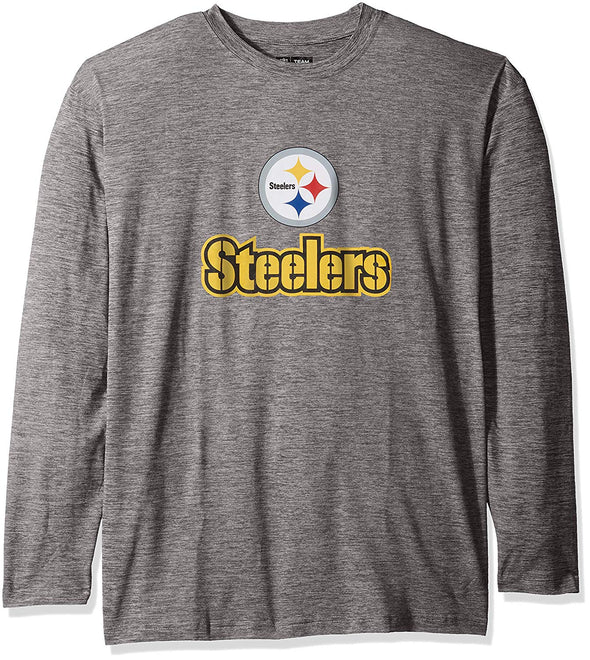 Zubaz NFL Men's Pittsburgh Steelers Long Sleeve Tee