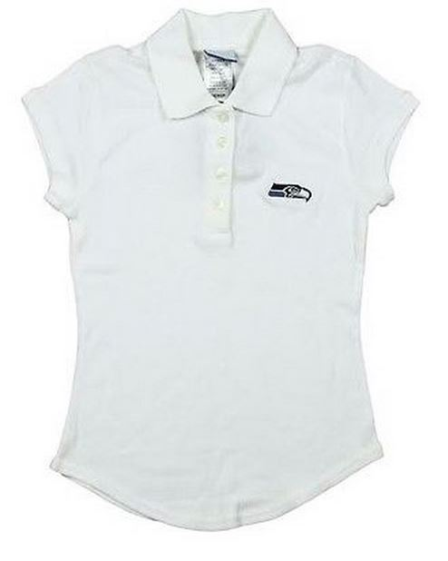 Reebok NFL Juniors Seattle Seahawks Polo Shirt - White
