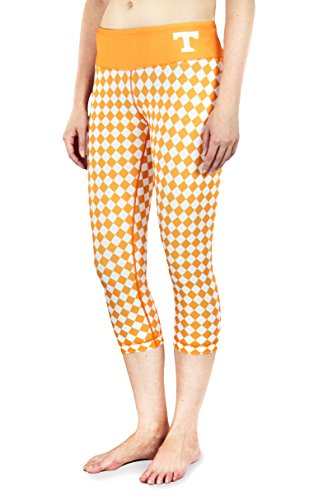 NCAA Women's Tennessee Volunteers Thematic Print Capris, Orange