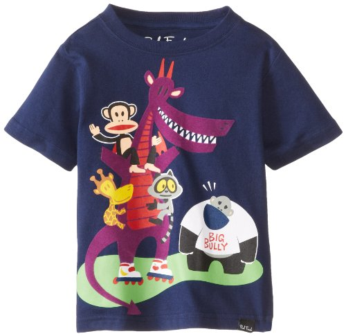 Paul Frank Toddler Boy's Julius & Friends Big Bully Short Sleeve Tee T-Shirt, Navy