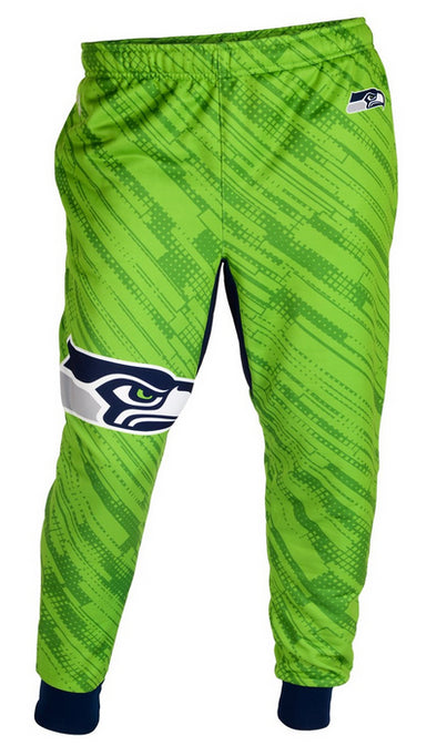 KLEW NFL Men's Seattle Seahawks Cuffed Jogger Pants, Green