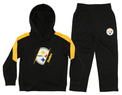 OuterStuff NFL Toddler Pittsburgh Steelers Poly Fleece Set f5cbb8551