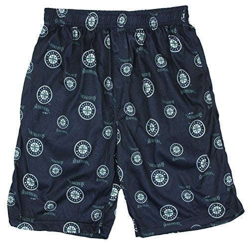 MLB Baseball Kids / Youth Seattle Mariners Lounge Pajama Boxer Shorts - Navy