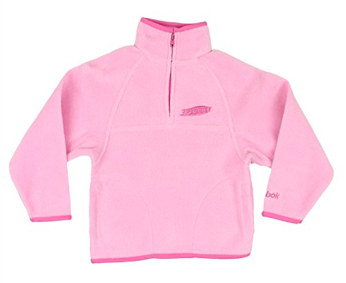Reebok NHL Little Girls Anaheim Ducks 1/4 Zip Fleece Pullover Jacket, Pink