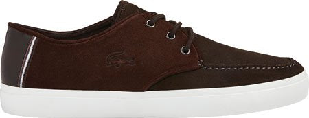 Lacoste Men's Sevrin 116 1 Moc Toe Shoe,Dark Brown Suede,US 10 M