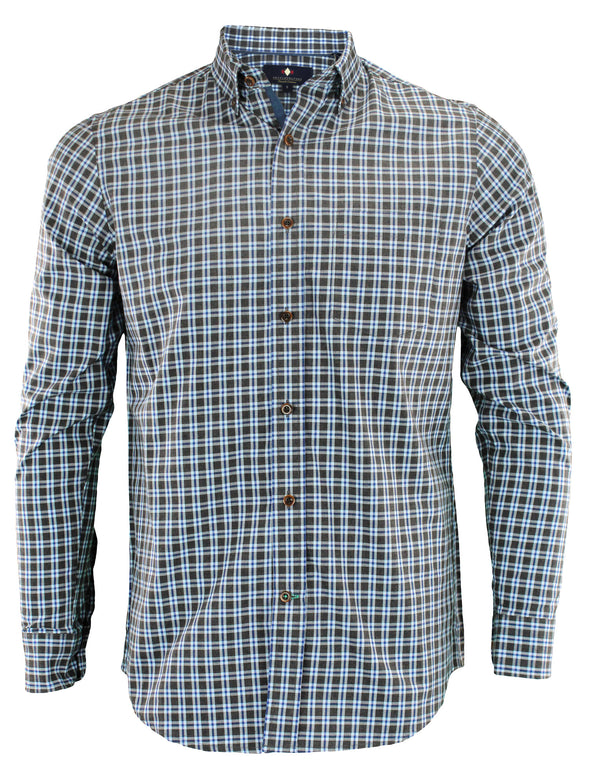Argyle Culture Men's Button Up Plaid Shirt, Sapphire