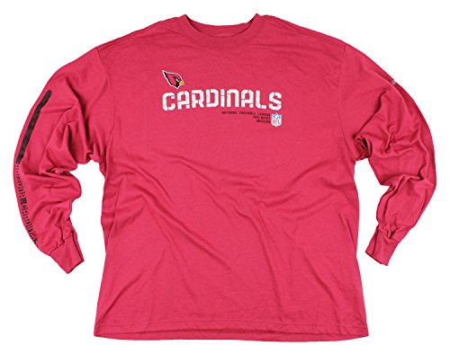Reebok NFL Men's Arizona Cardinals NFC West Long Sleeve Shirt, Red