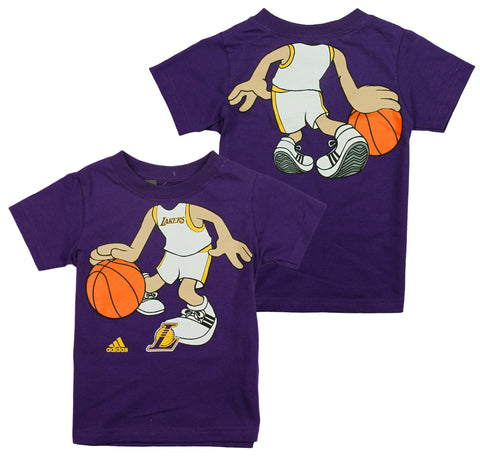 Adidas NBA Basketball Toddlers Los Angeles Lakers Boys Dream Job Tee - Purple